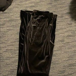 Black velvet flaire pants